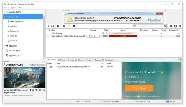 Comment telecharger avec utorrent ?