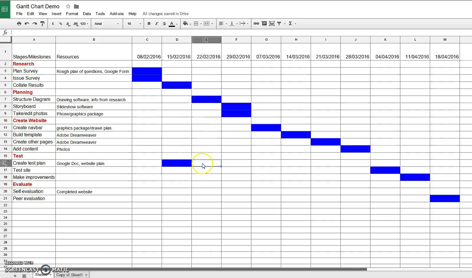 Making A Calendar In Google Sheets